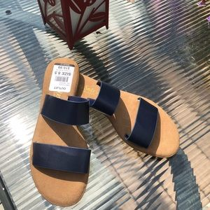Final Price-Comfy Soles Navy Sandals